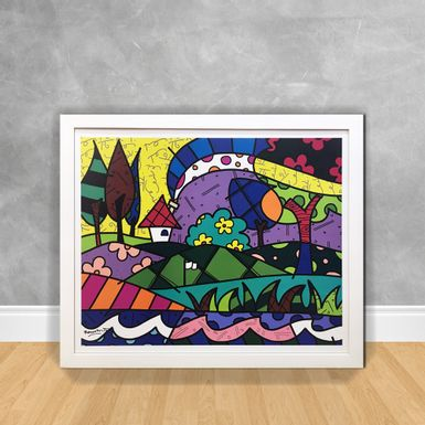 Quadro Decorativo-Romero-Britto-House-of-Love