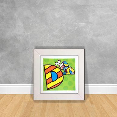 Quadro-Decorativo-Romero-Britto-Letra-D