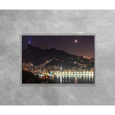 Gravura-Decorativa-Rio-de-Janeiro---Cristo-Iluminado