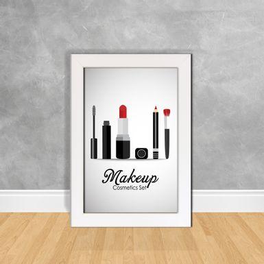Quadro-Decorativo-Makeup-Cosmetics-Set