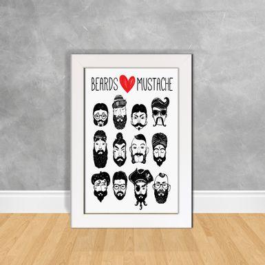 Quadro-Decorativo-Beards-Mustache