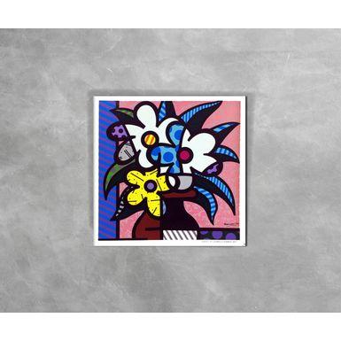 Gravura-Decorativa-Romero-Britto-Britto-Cheryl-s-Flowers