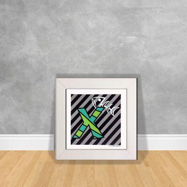 Quadro-Decorativo-Romero-Britto-Letra-X