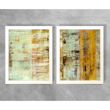 Conjunto-de-Quadros-Abstratos-Tons-Verde-Claro-e-Dourado