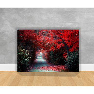 Tela-em-Canvas-Corredor-Florestal-Vermelho