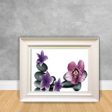 Quadro-Decorativo-Canvas-Flor-Pedras