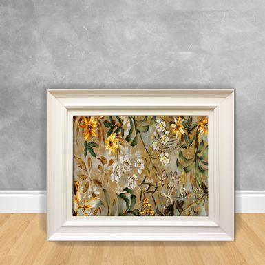 Quadro-Decorativo-Canvas-Flor-Selva-Amarela