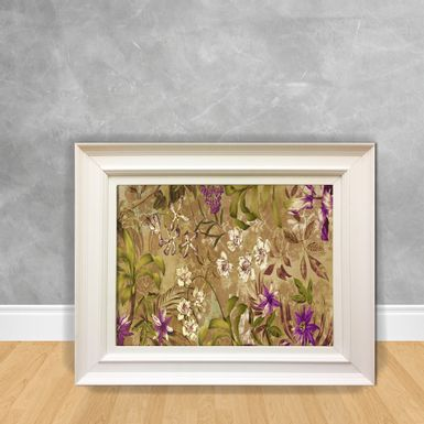 Quadro-Decorativo-Canvas-Flor-Selva-Roxa