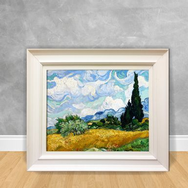 Quadro-Decorativo-Van-Gogh---Wheat-Field-With-Cypresses