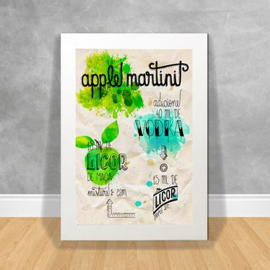 Quadro-Decorativo-Apple-Martini