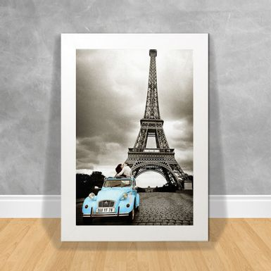 Quadro-Decorativo-Paris-Car-Blue