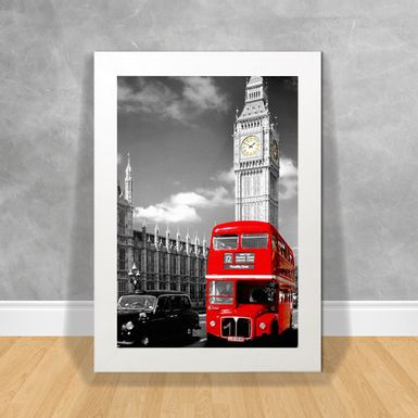 Quadro-Decorativo-Paris-Red-Bus