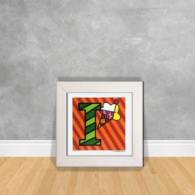 Quadro-Decorativo-Romero-Britto-Letra-I