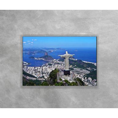 Gravura-Decorativa-Rio-de-Janeiro---Cristo-de-Costas