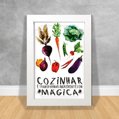 Quadro-Decorativo-Cozinhar-e-Transformar-Ingredientes-em-Magica
