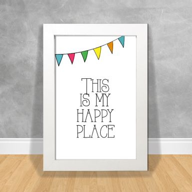 Quadro-Decorativo-Cozinhar-This-Is-My-Happy-Place