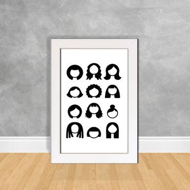 Quadro-Decorativo-Tipos-de-Cabelos-Femininos