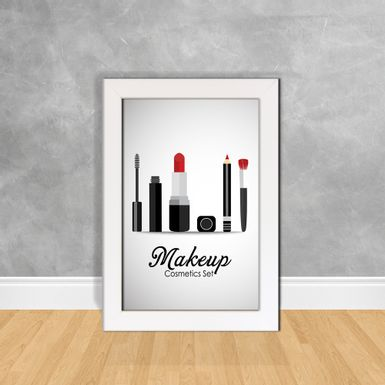 Quadro-Decorativo-Makeup-Cosmetics-Set