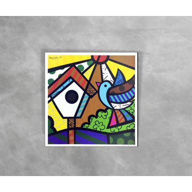 Gravura-Decorativa-Romero-Britto-Bird