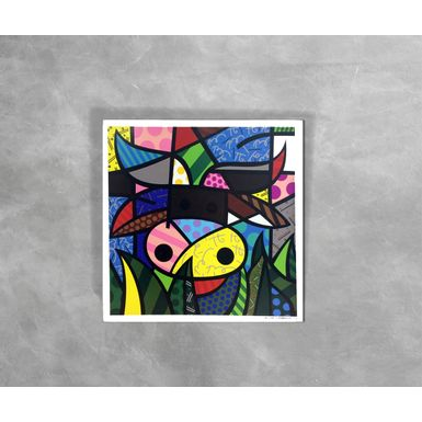 Gravura-Decorativa-Romero-Britto-My-Cow