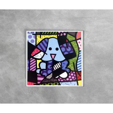 Gravura-Decorativa-Romero-Britto-Cao-Azul