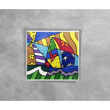 Gravura-Decorativa-Romero-Britto-Sailing