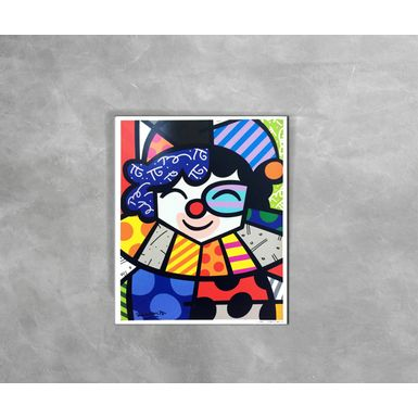 Gravura-Decorativa-Romero-Britto-Clown