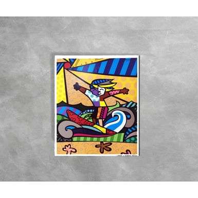 Gravura-Decorativa-Romero-Britto-Surfer