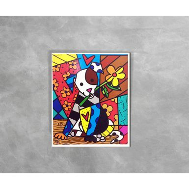 Gravura-Decorativa-Romero-Britto-Dog