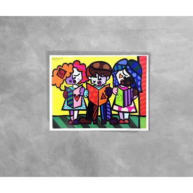 Gravura-Decorativa-Romero-Britto-Good-Friends