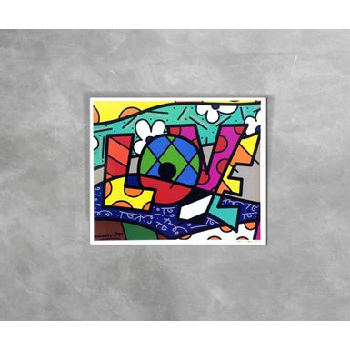 Gravura-Decorativa-Romero-Britto-Love