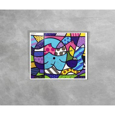 Gravura-Decorativa-Romero-Britto-Brendan-s-Whale