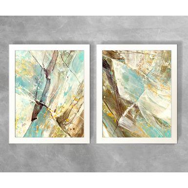 Conjunto-de-Quadros-Abstratos-Estilo-Marmore