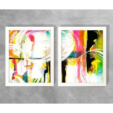 Conjunto-de-Quadros-Abstratos-Semicirculos-Coloridos