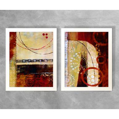 Conjunto-de-Quadros-Abstratos-Circulos-Tons-de-Vermelho