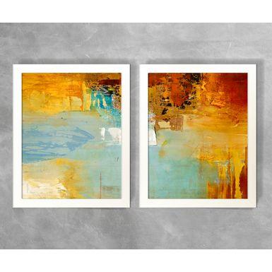 Conjunto-de-Quadros-Abstratos-Tons-Quentes