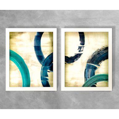 Conjunto-de-Quadros-Abstratos-Semicirculos-Tons-de-Azul