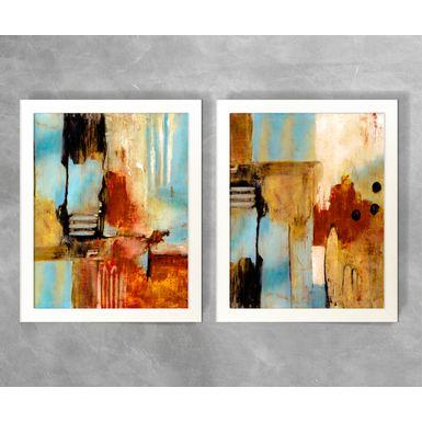 Conjunto-de-Quadros-Abstratos-Tons-de-Azul-e-Vermelho