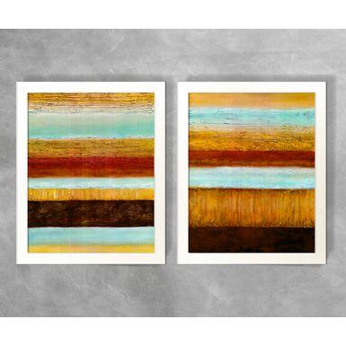 Conjunto-de-Quadros-Abstratos-Listras-Tons-de-Marrom-e-Azul
