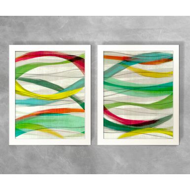 Conjunto-de-Quadros-Abstratos-Linhas-Curvas-Coloridas