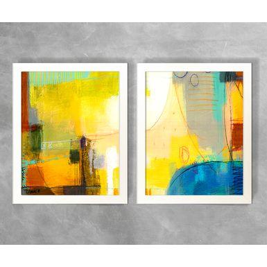 Conjunto-de-Quadros-Abstratos-Formas-e-Linhas-Coloridas