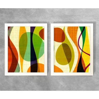 Conjunto-de-Quadros-Abstratos-Formas-Coloridas