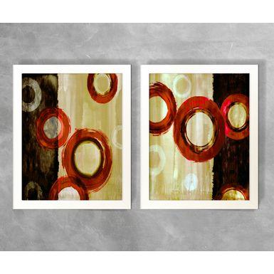 Conjunto-de-Quadros-Abstratos-Circulos-e-Semicirculos-Tons-de-Vermelho-e-Bege