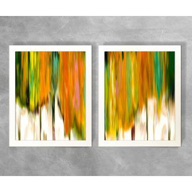 Conjunto-de-Quadros-Abstratos-Listras-Corais-e-Verdes