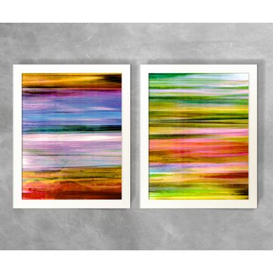 Conjunto-de-Quadros-Abstratos-Listras-Horizontais-Coloridas