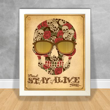 Quadro-Decorativo-Stay-Alive