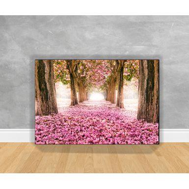Tela-em-Canvas-Paisagem-Floresta-Com-Rosas-Ao-Chao