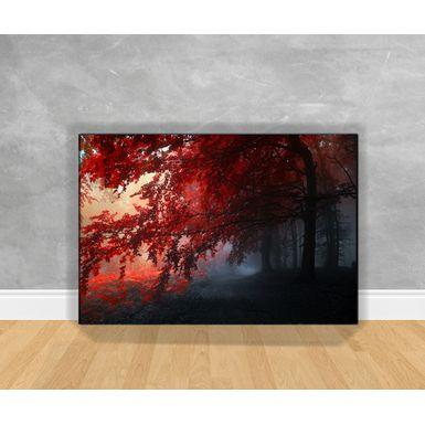 Tela-em-Canvas-Paisagem-Escura-Com-Arvores-Vermelhas