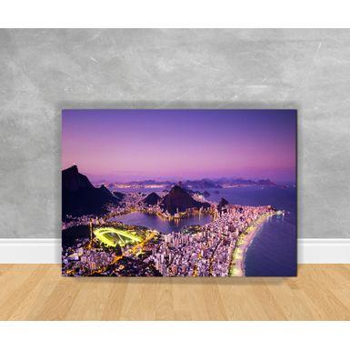 Tela-em-Canvas-Cidade-Rio-de-Janeiro---Noite-Iluminada