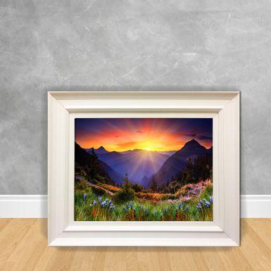 Quadro-Decorativo-Sol-nas-Montanhas